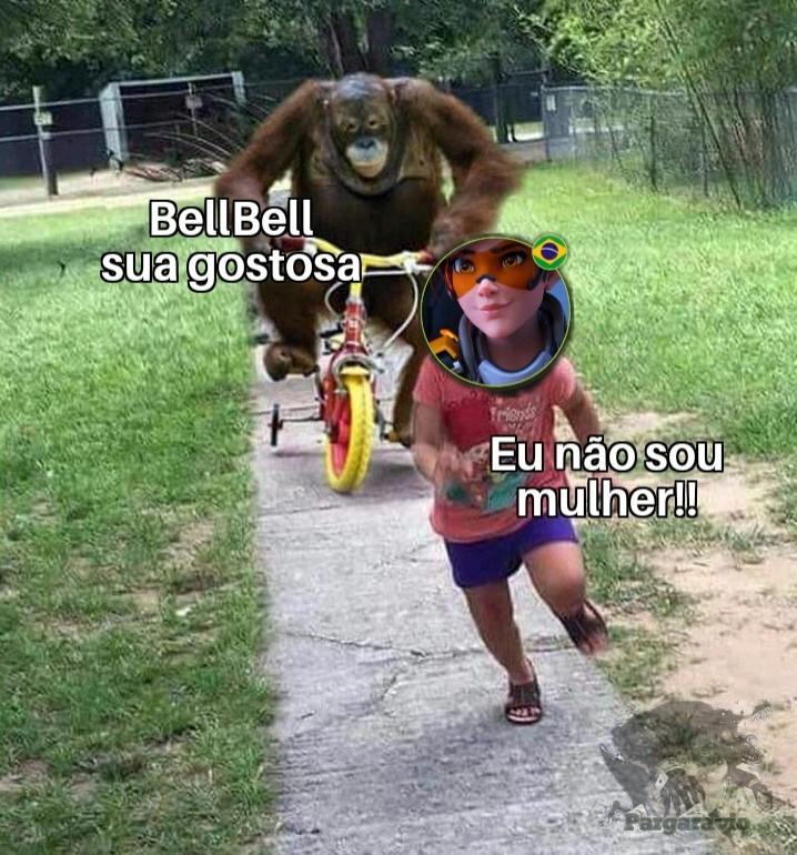 Título bate pra BellBell - meme
