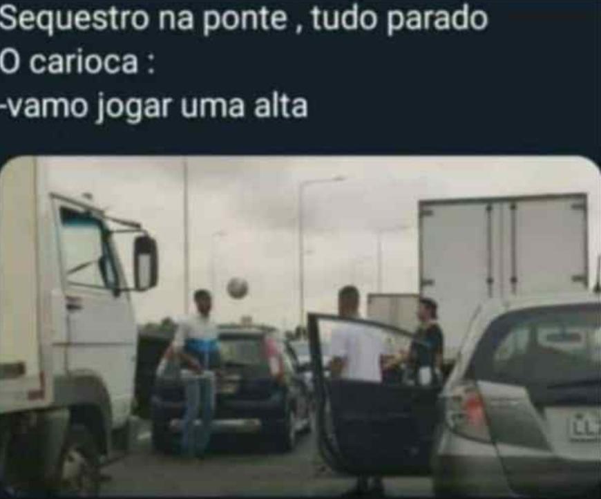 O carioca é o brasileiro sem limites - meme