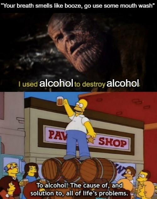 Alcohol also dissolves sharpie - meme