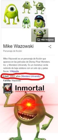 Estaba buscando Mike Wazowski en Google para un meme y me apareció eso, búsquenlo