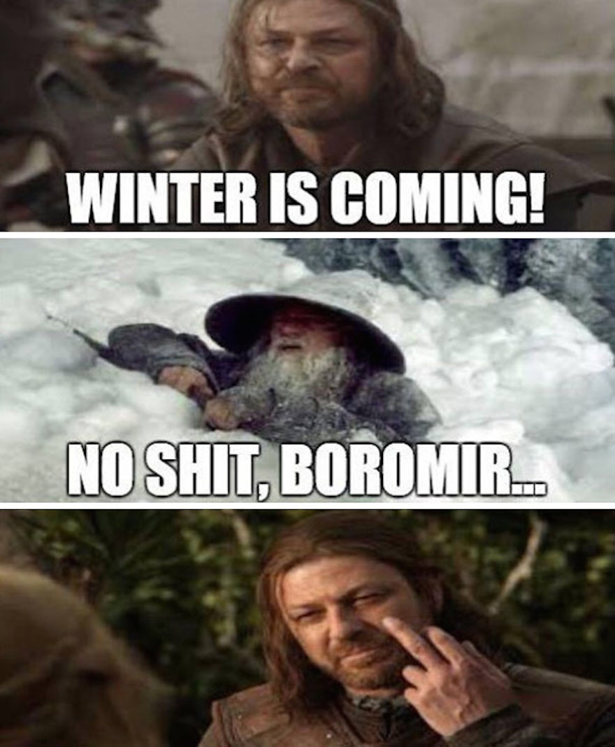 fuck winter - meme