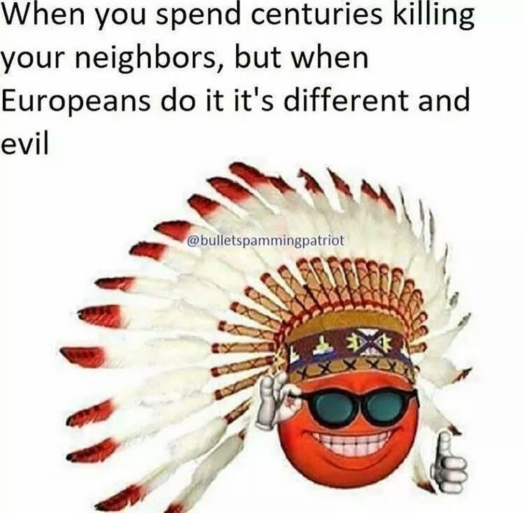 White people so evil - meme