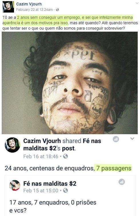 Vagabundo tem q levar porrada ate sair a última tatuagem da cara - meme