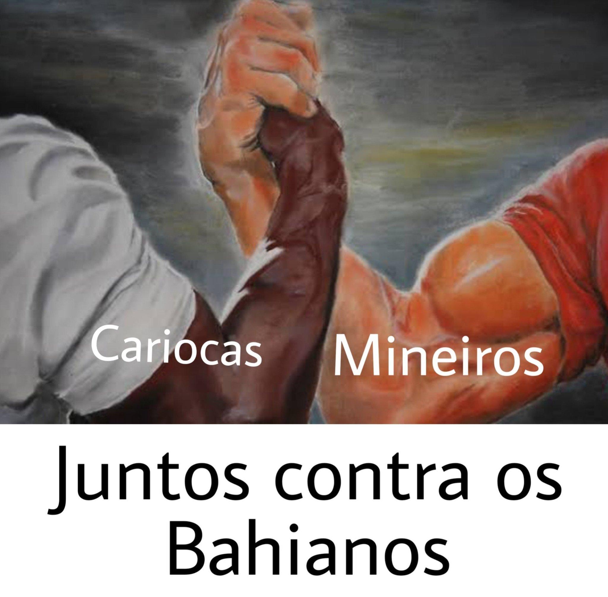Bahiano nem é gente - meme