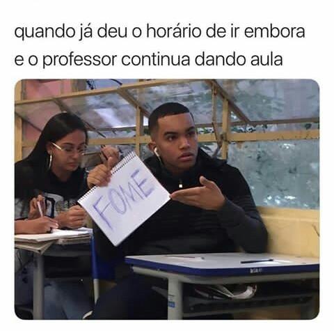 Professor tem pena não meu amigo kkkkk - meme