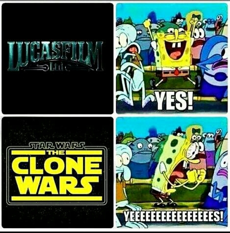 Clone Wars = Best Wars - meme