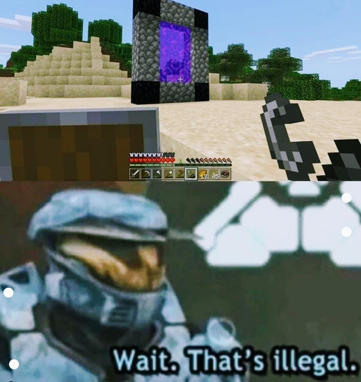 Minecraft curseado - meme