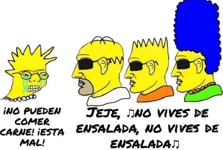 JAJAJA LISA PELOTUDA NO VIVES DE ENSALADA NO VIVES DE ENSALADA - meme