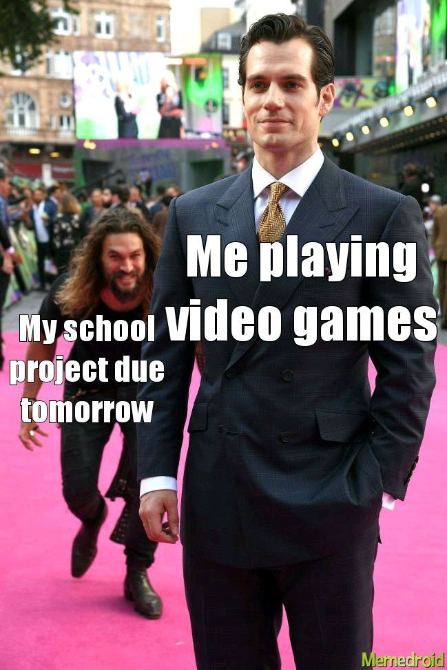 When your a gamer but want to do well in school - meme