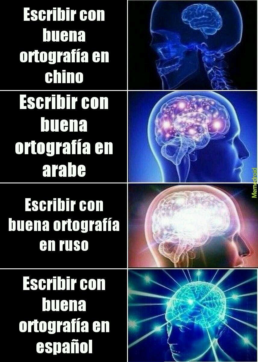 Buena ortografía - meme