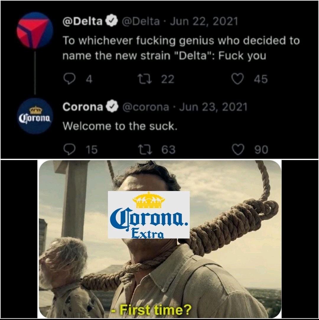 Corona x Delta - meme