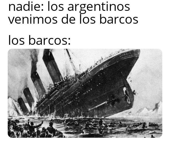 El Titanic - meme