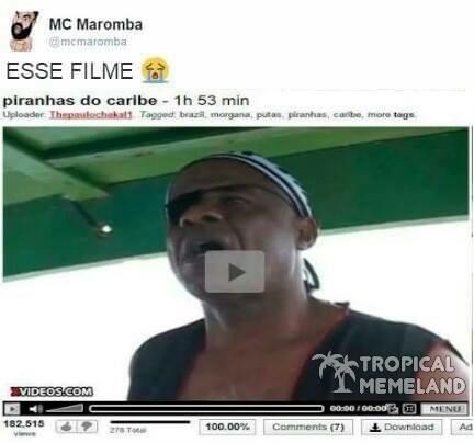 Piranhas do Caribe e a maldição da jeba negra - meme