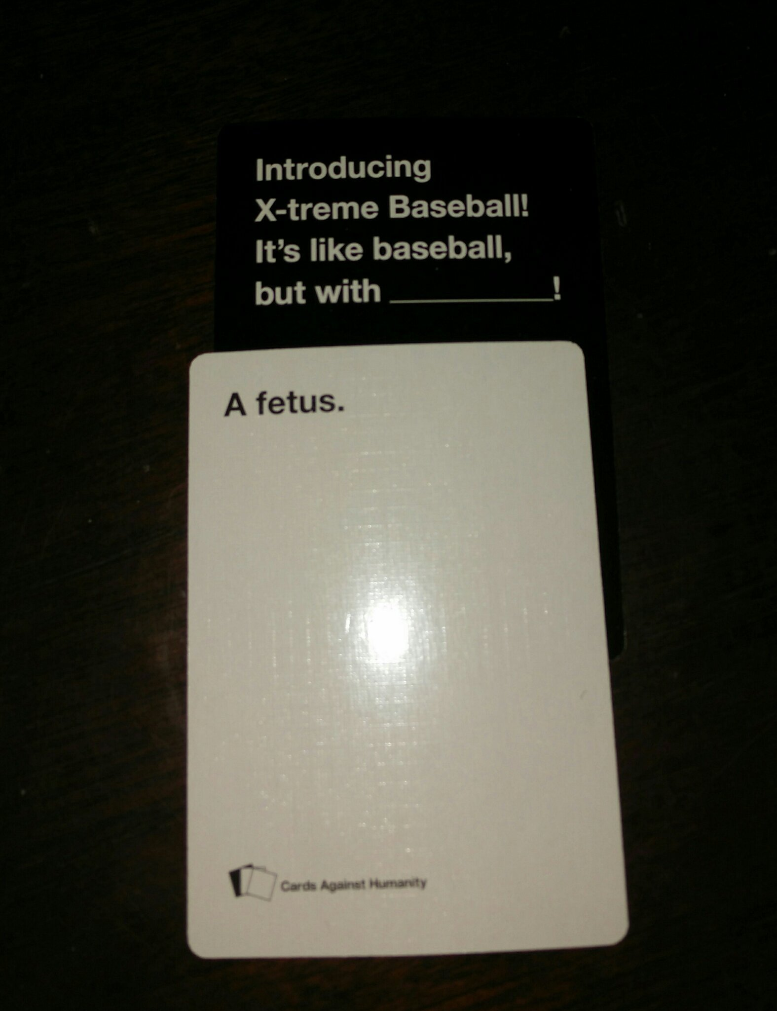 cards against humanity is hilarious - meme