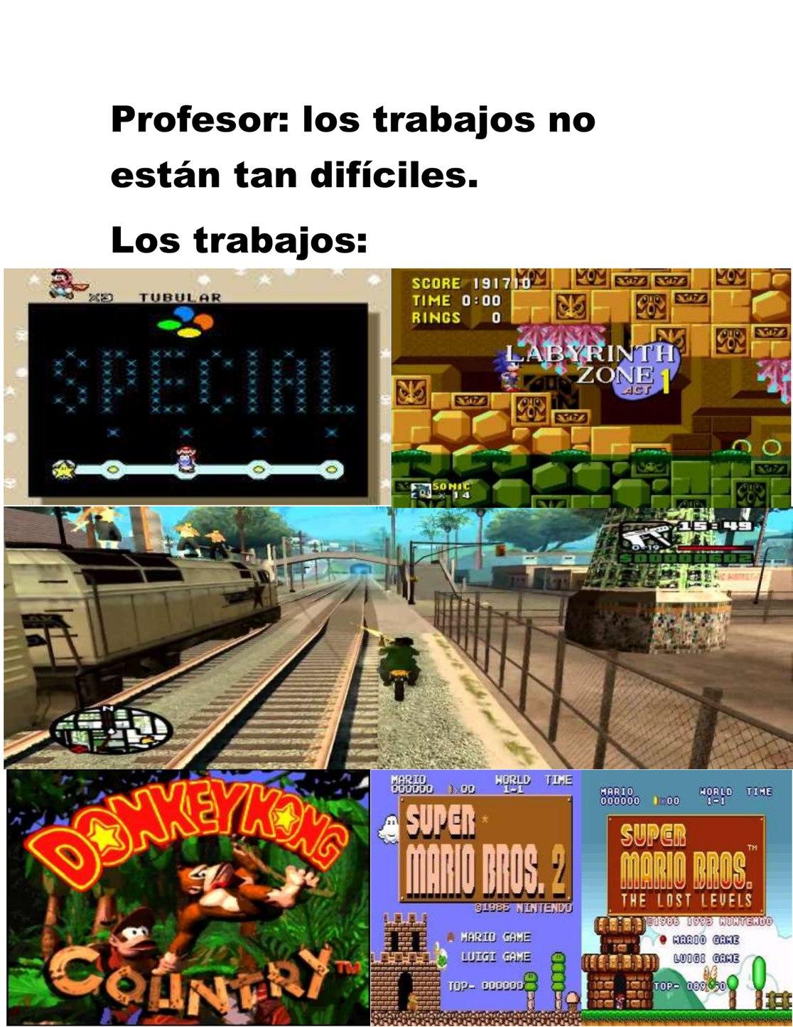 juegos y misiones diiciles - meme