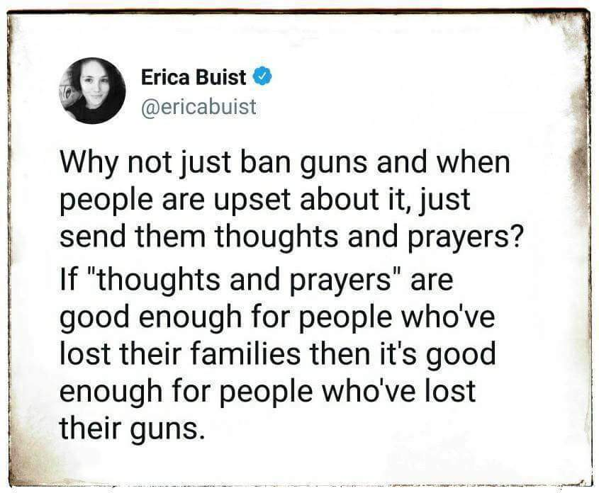 Thoughts and prayers - meme