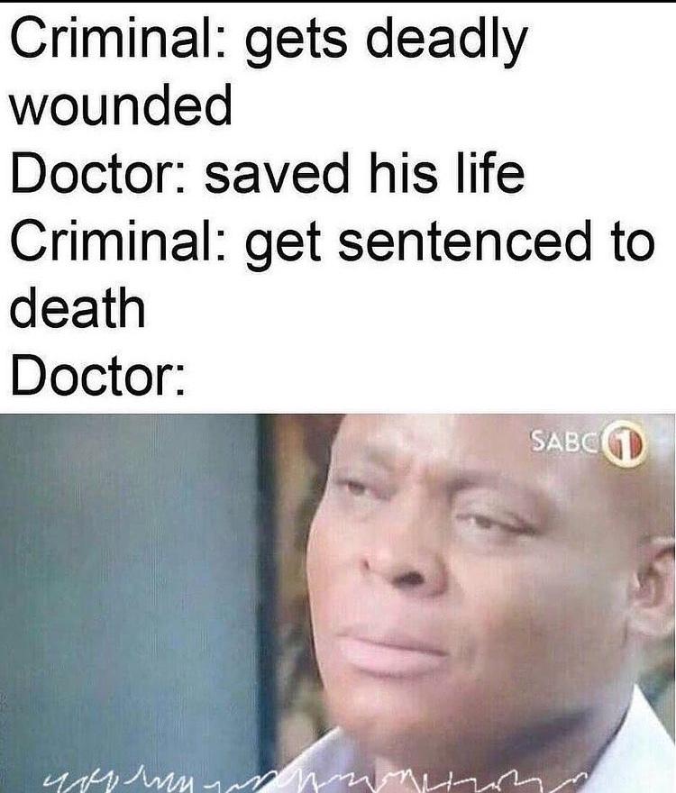 doctors writing: am I a joke to you - meme