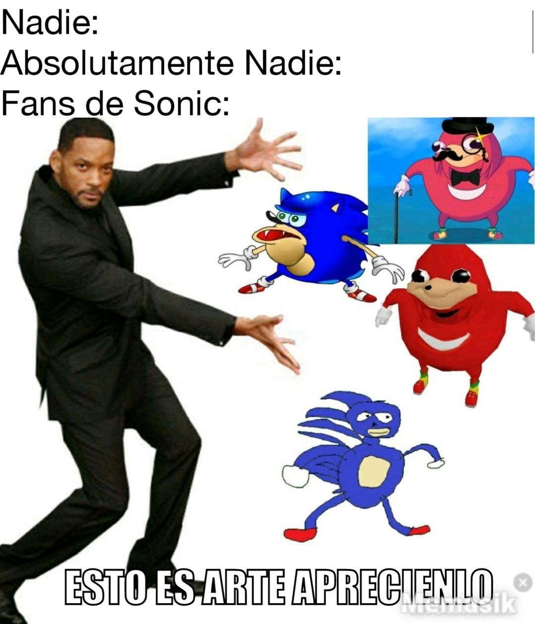 Fans de sonic - meme