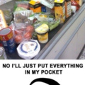 No I'll just put everything in my pocket....