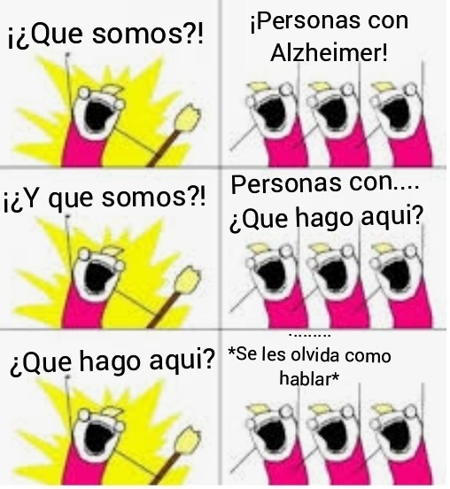 Contexto: Alzheimer - meme