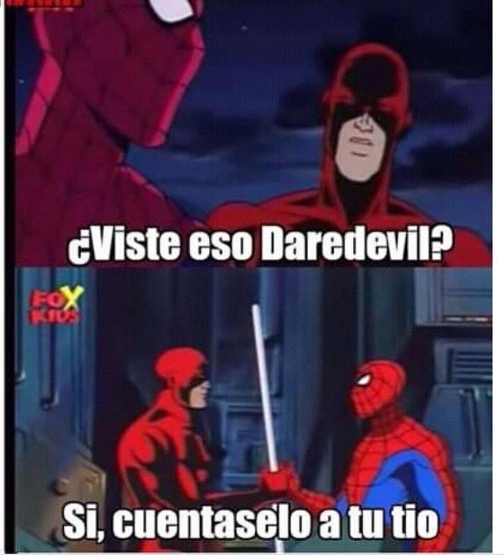 Daredevil donde te sentaste? - meme