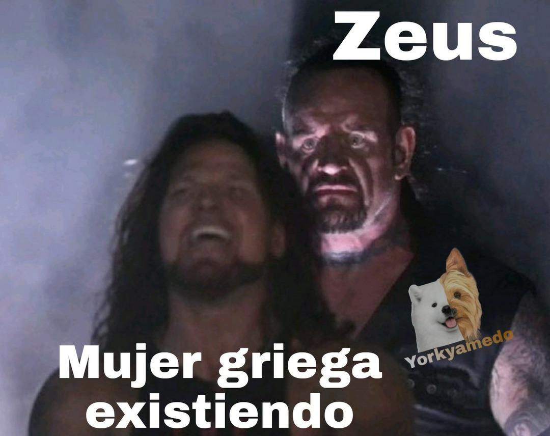 Zeus travieso - meme