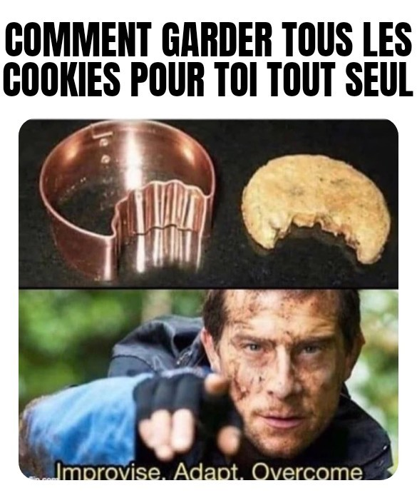 Give this man a cookie - meme