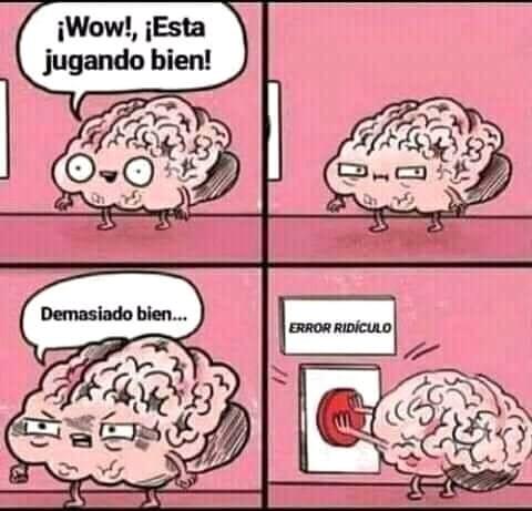 Cerebro estupido - meme