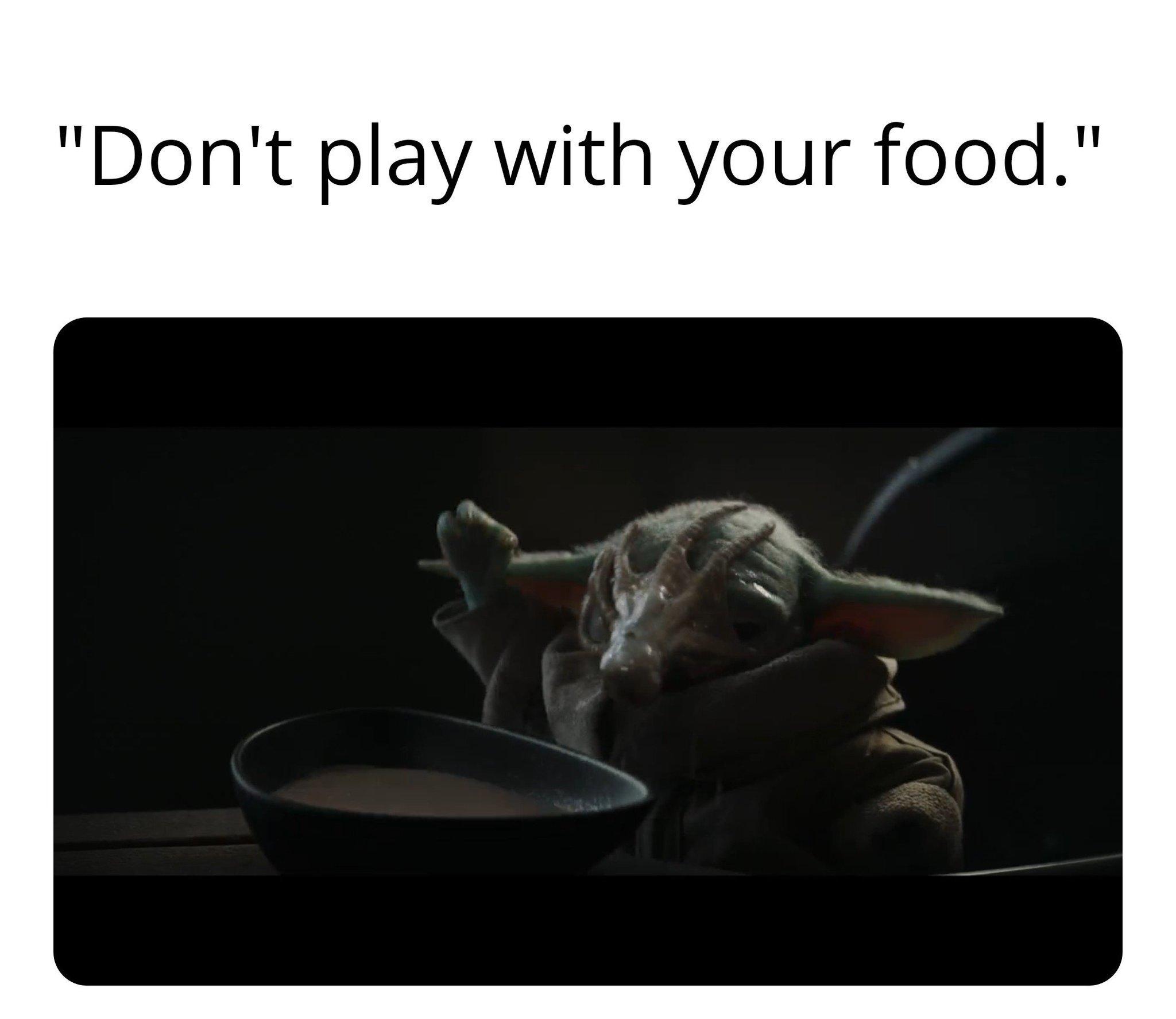 Baby Yoda Eating - meme