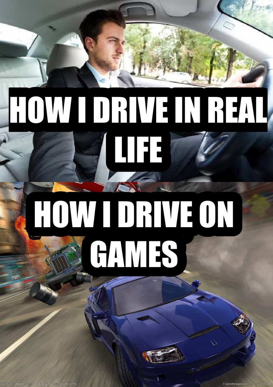 Let's drive... if you can (bigass text shadow ahead) - meme