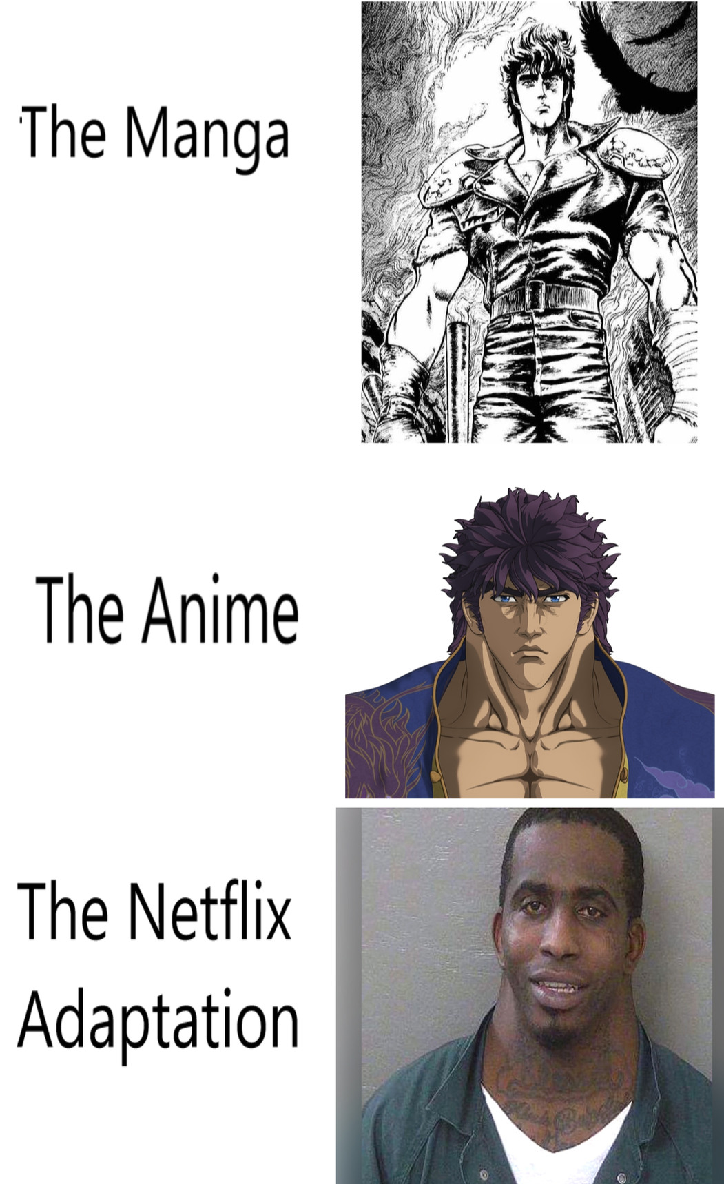 Fist of The North Star had necks for days - meme