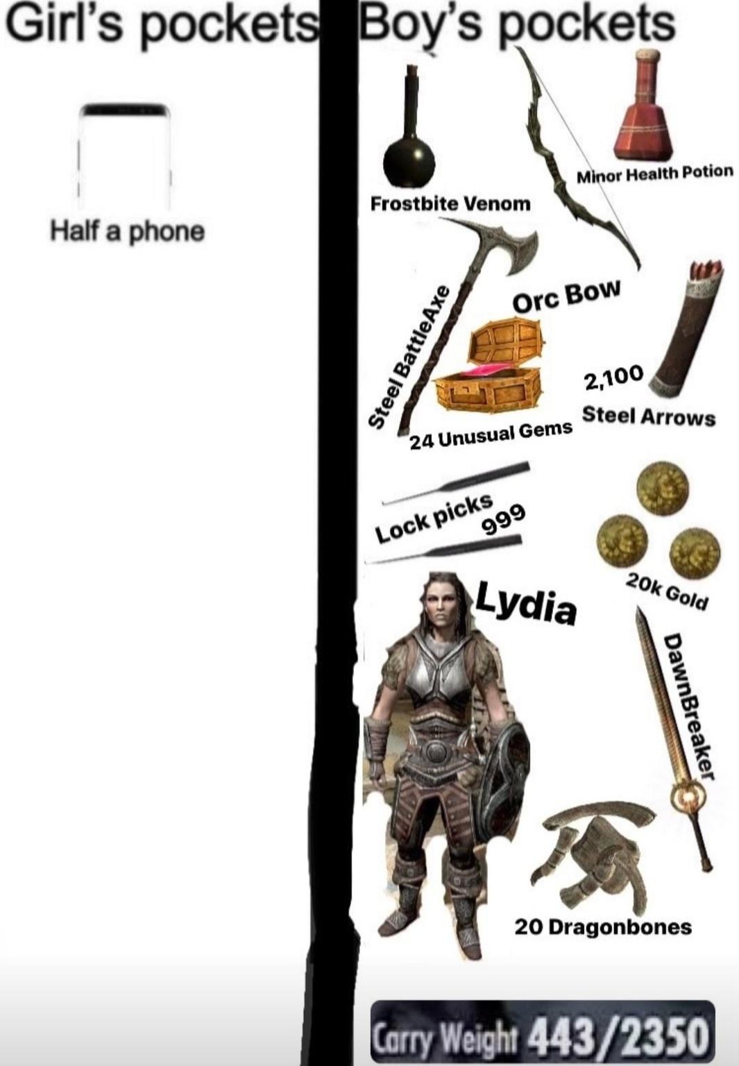 Lydia in my pocket - meme
