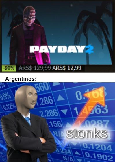 El título se fué a Steam a comprar Payday 2 - meme