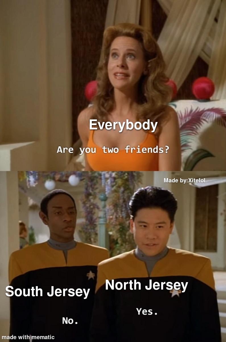 North Jersey is gross - meme