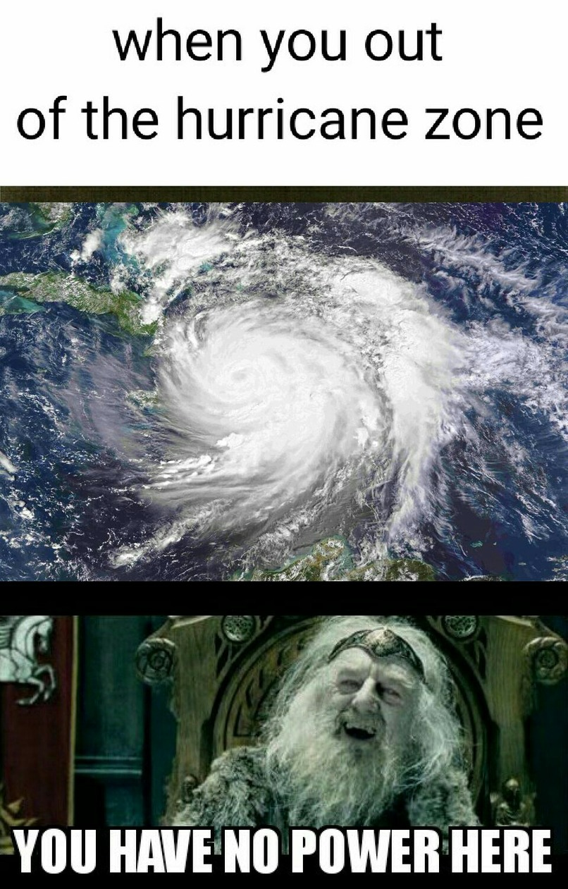 Good luck Floridians - meme