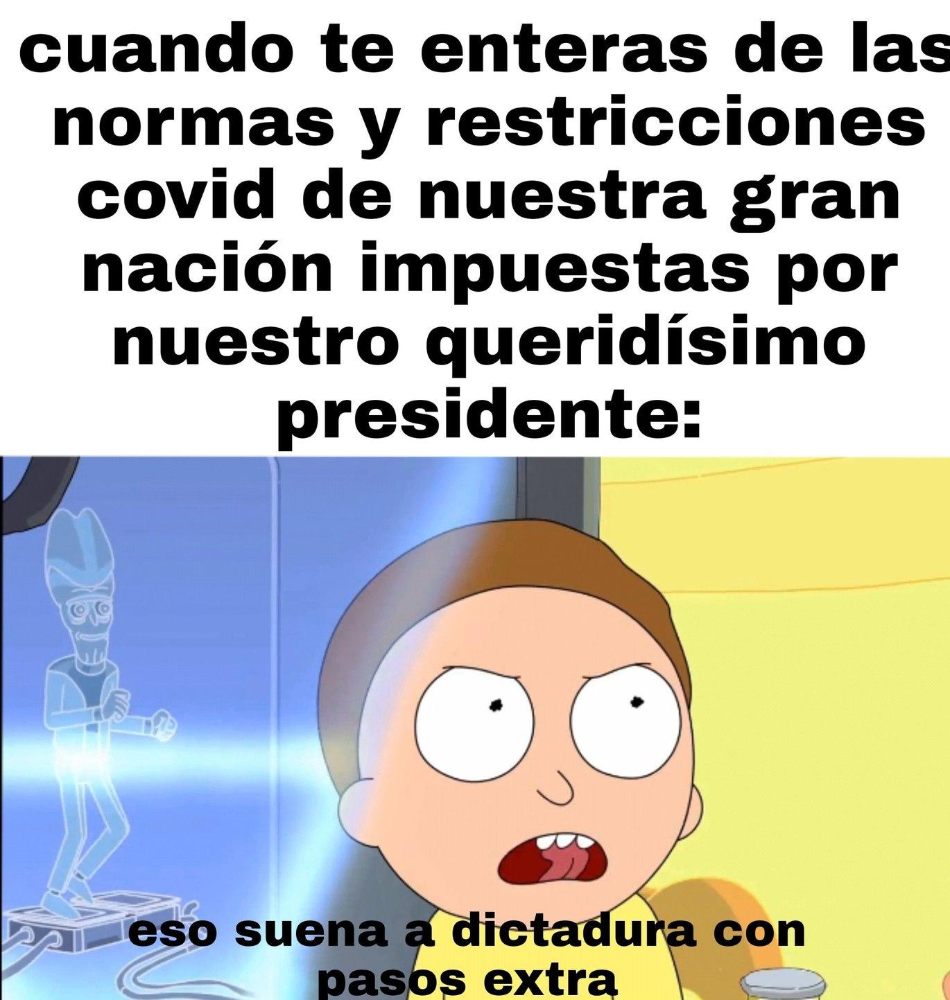 Realmente se puede aplicar a casi cualquier país en estos tiempos pero el autor es español y el presi se está pasando - meme