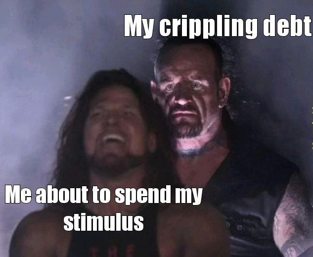 I wake up in panic attacks over my debt - meme