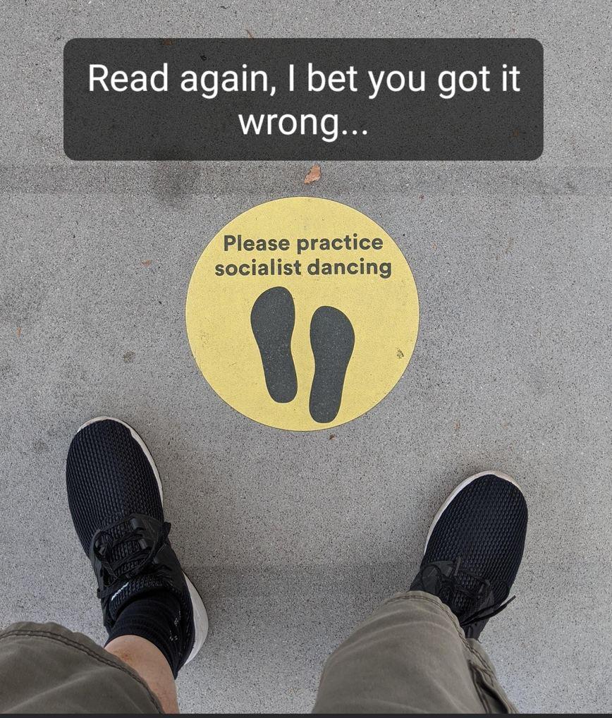 Socialist dancing... - meme