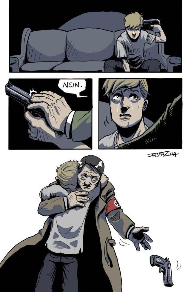 wholesome hitler - meme