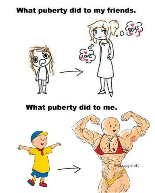 mmm pubertad - meme