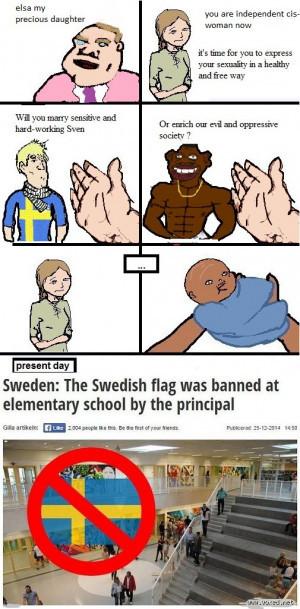 Oficialmente Suecia está perdida - meme