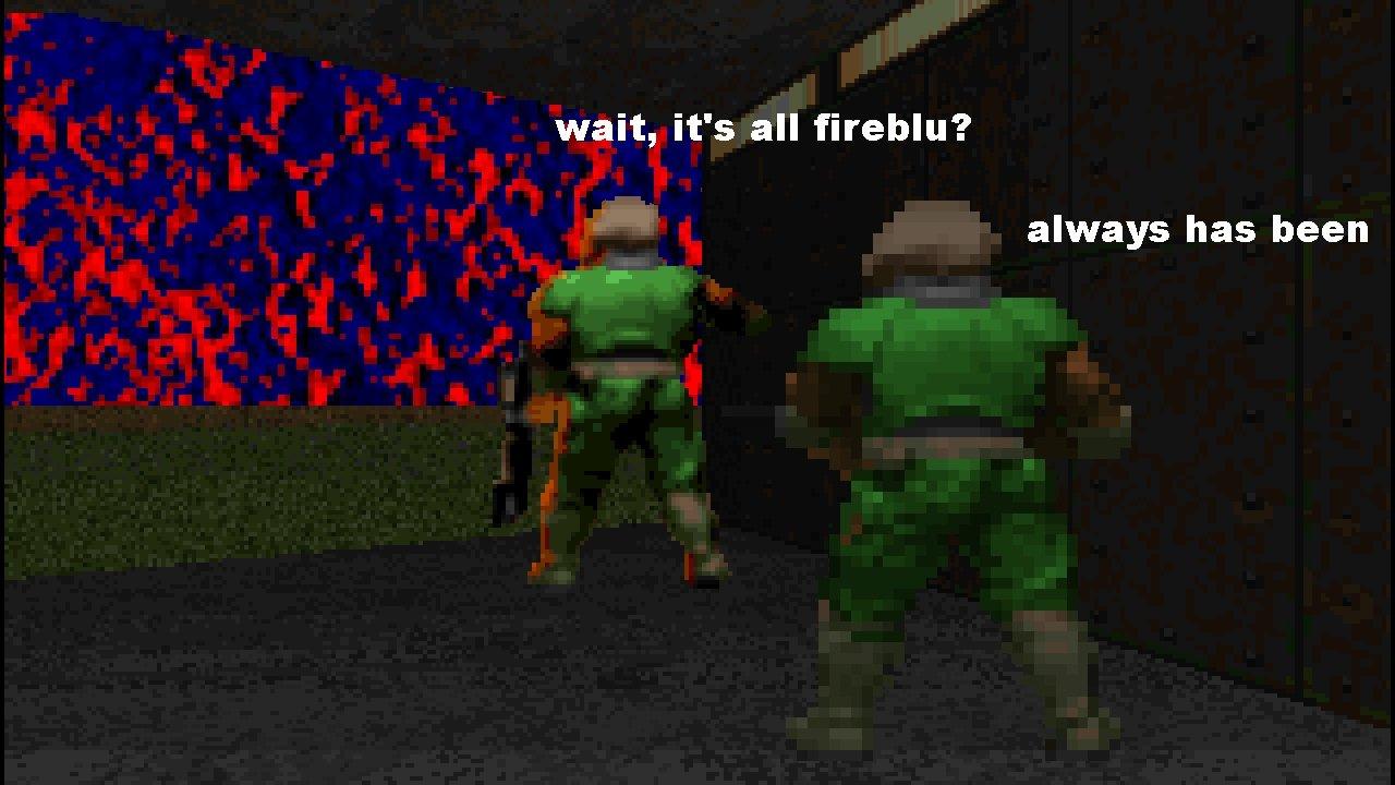 Fireblu: a textura mais nojenta da franquia doom - meme