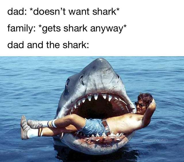 Dad and the shark - meme