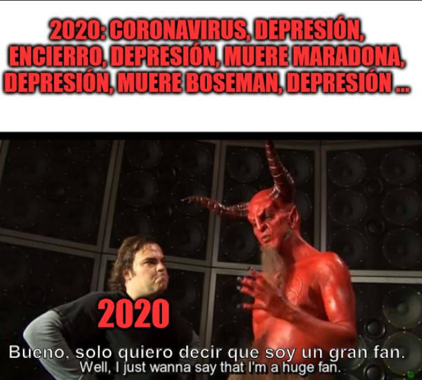 2020 y Satan - meme