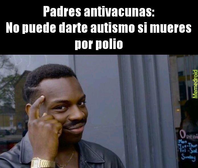 Lógica antivacunas - meme