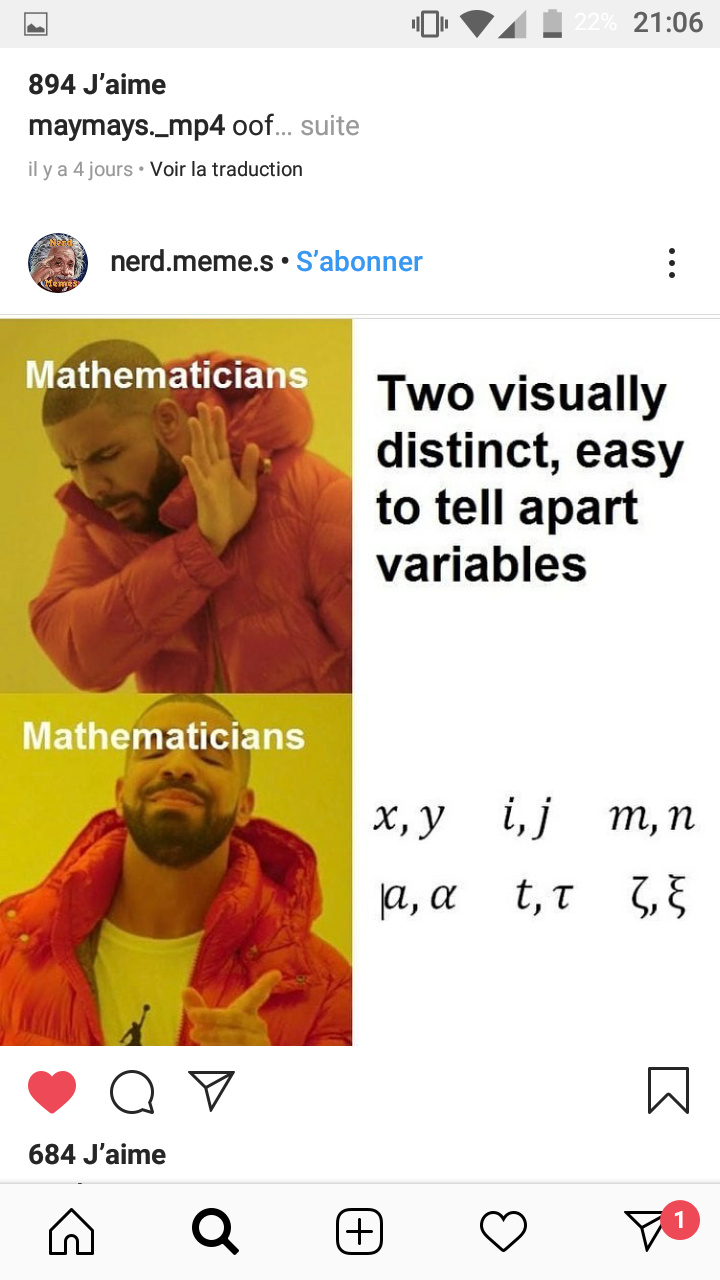 Silly mathematicians u.u - meme