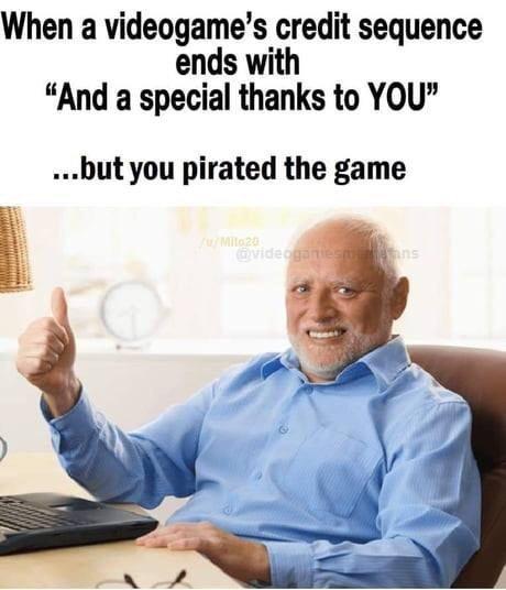Micro transactions incite piracy - meme
