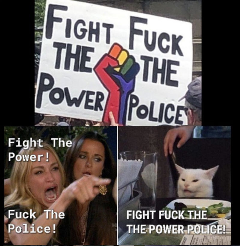 hate people who say fuck the police - meme