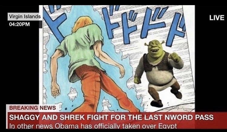 Ultra Instinct Shaggy is now cannon - meme