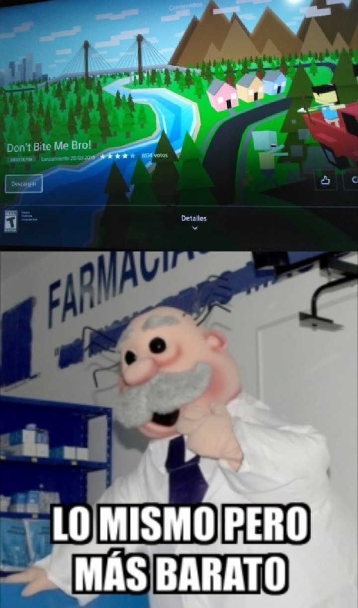 El minecraft trucho - meme